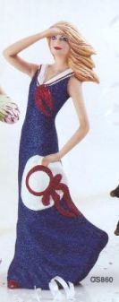 Ocean State 0860 woman figurine with sailor dress