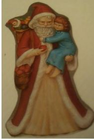 Provincial Old Time Santa holding a child