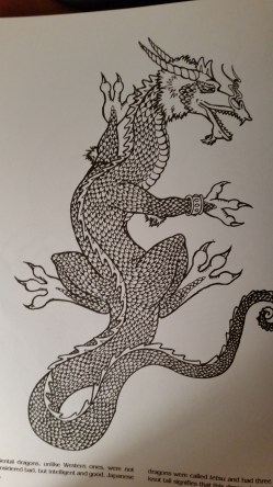 dragon drawing Japanese