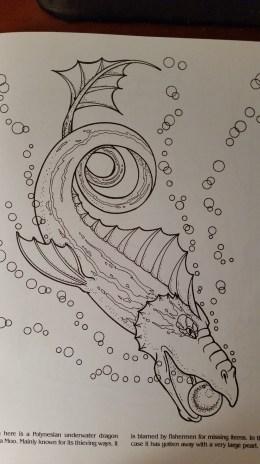 dragon drawing Polynesian underwater dragon called a Moo