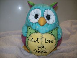 Kimple 0933 stuffed owl bank from FB