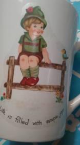 Junes Hummel boy cup decal