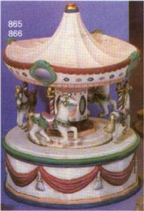 scioto 865 and 866 carousel music box and horses