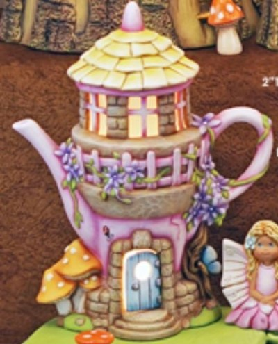 Clay Magic 3952 Enchanted Teapot Fairy Cottage