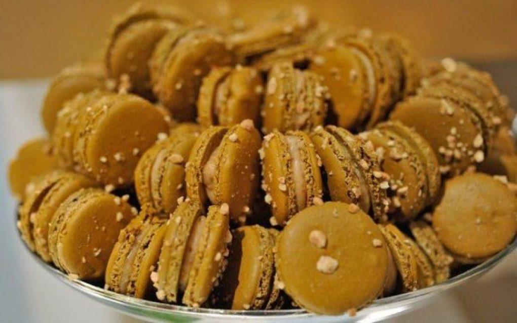 Macarons com paçoca