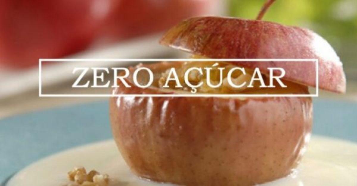Maçãs assadas com especiarias - Zero açúcar