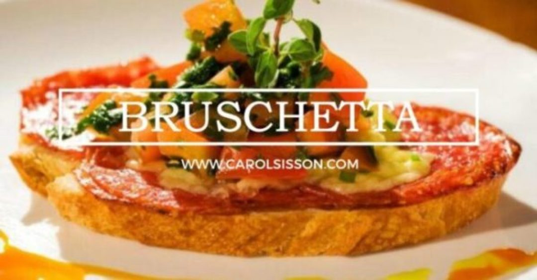 Bruschetta colorida
