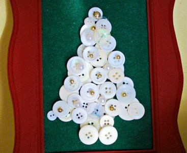 Christmas Button Tree