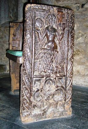 The Mermaid of Zennor, wood-carved bench end, Cornwall, late fifteenth century.  Photo by Tom Oates