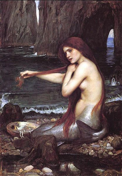 John William Waterhouse - Mermaid (1900, Oil on canvas)