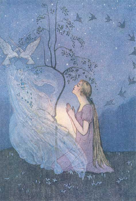 This illustration came from: Abbott, Elenore. Grimm's Fairy Tales. New York: Charles Scribner's Sons, 1920.