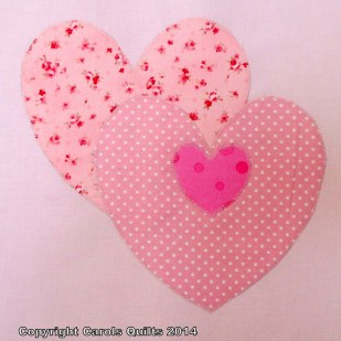 Heart block 2 five inch and two inch templates