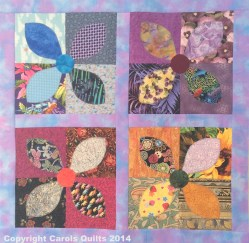 Carols Quilts Frangipani with copyright