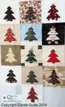 Carols Quilts Christmas Tree Collage