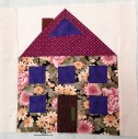Carols Quilts the Patchwork Village Large Two Story House