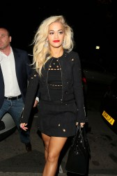 **USA ONLY** London, UK - Rita Ora and other judges from the 'The Voice UK' party the night away at the John Street Hotel till midnight. AKM-GSI September 29, 2014 **USA ONLY** To License These Photos, Please Contact : Steve Ginsburg (310) 505-8447 (323) 423-9397 steve@akmgsi.com sales@akmgsi.com or Maria Buda (917) 242-1505 mbuda@akmgsi.com ginsburgspalyinc@gmail.com