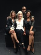 """""""Leaving Amelia"""" playwright and cast members L-R: Caroline Palmour as Amelia, Carol White, Playwright, Steven Strickland as Mason, Eboney Rouse as Ginger"""