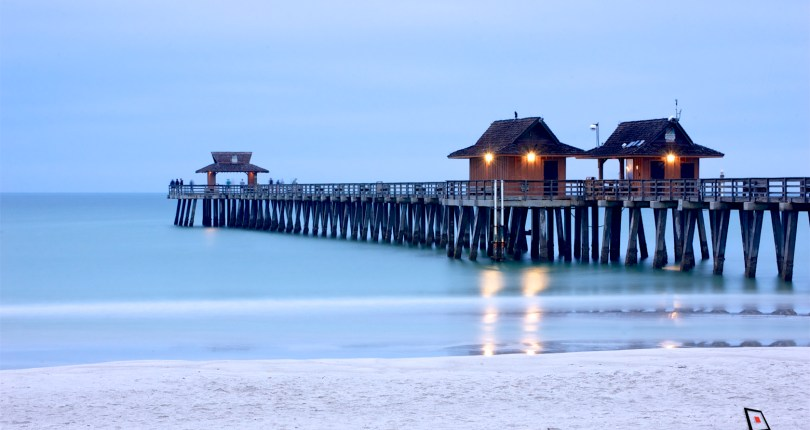 The Naples Pier, a landmark that once caught fire