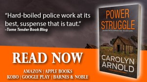 Power Struggle by Carolyn Arnold Read Now, rundown barns in a field with a stormy sky