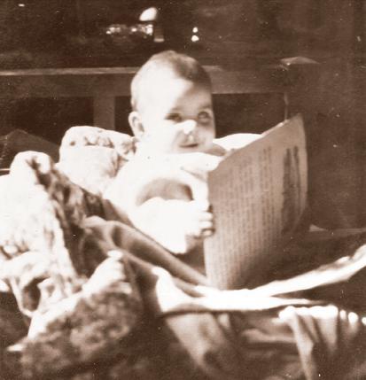 Baby Carolyn, already reading