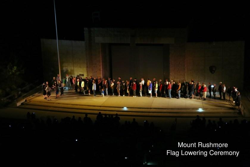 Mount Rushmore Flag Ceremony