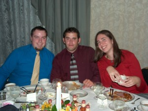 With Paul and Natey at George and Jamie's wedding (10 years ago this week!)