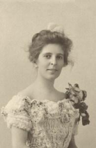 Carolyn McKnight Christian with corsage