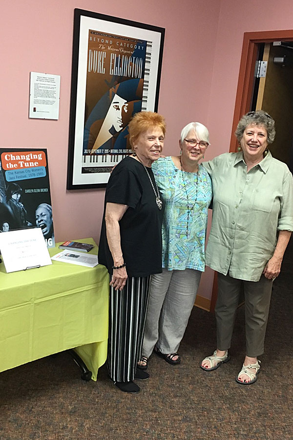 With WJF founders Carol Comer (L) and Dianne Gregg (R) at the American Jazz Museum, Kansas City
