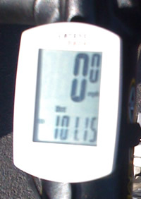 My odometer, showing 101.15 miles