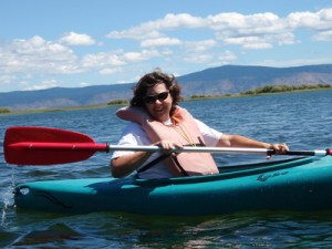 Carolyn kayaking
