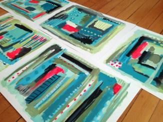 Base Paintings- cool tones