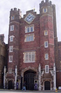Main gate of St James's Palace, London. Image by ChrisO