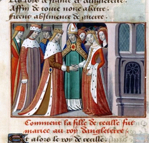 The marriage of Henry VI and Margaret of Anjou