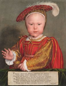 Prince Edward in 1539, by Hans Holbein the Younger.