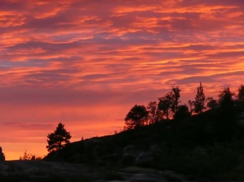 Sunset on the fjells