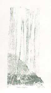 Image of Carolyn Murphy original monoprint called 'Hidden Depths'