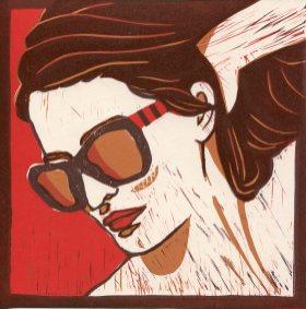 Image of Carolyn Murphy original linocut 'Riviera'