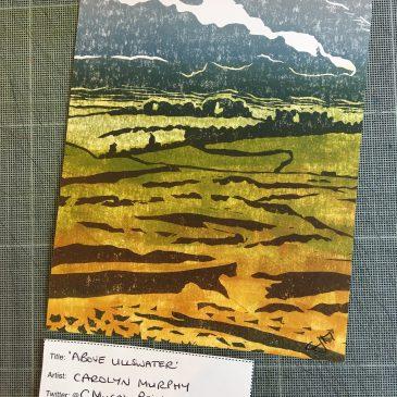 Image of Carolyn Murphy's original postcard 'Above Ullswater'