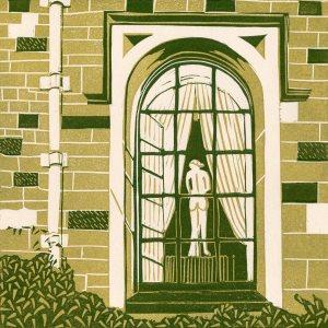 Image of 'That Window' an orginal linocut by Carolyn Murphy