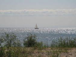 Sailboat on Lake Huron