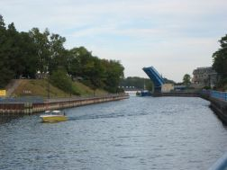 Drawbridge on Pine River in Charlevoix