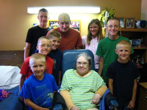 The kids with Grandma Worth