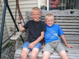 Josiah and Zachary on Grandma's swing