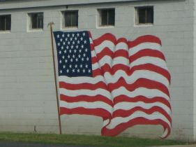 Flag mural in Litchfield