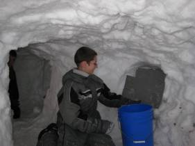 Luke in the tunnel