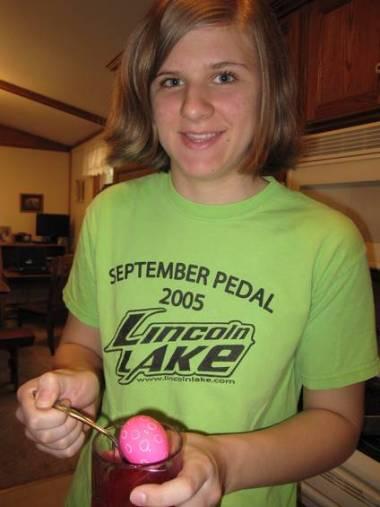 One of Kristi's eggs