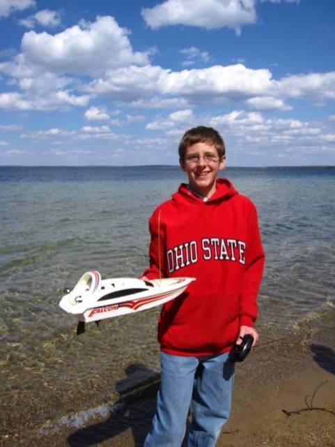 Luke's remote control boat