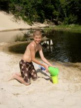 Jacob enjoying the sand