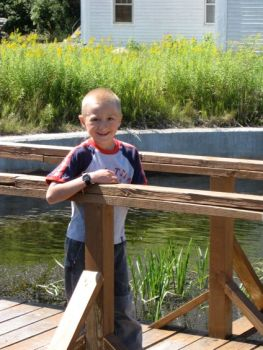 Josiah at the fish hatchery