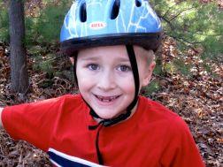 Josiah on the bike ride